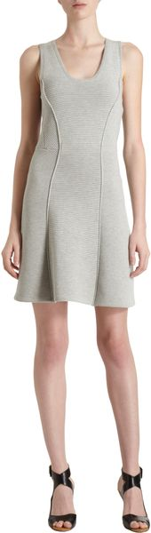 3.1 Phillip Lim Multi Ribbed Pattern Sleeveless Dress - Lyst