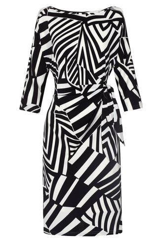 Almost Famous Irregular Stripe Jersey Dress - Lyst