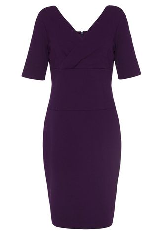 Almost Famous Vneck Jersey Dress - Lyst
