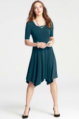 Ann Taylor Crepe Handkerchief Hem Dress - Lyst