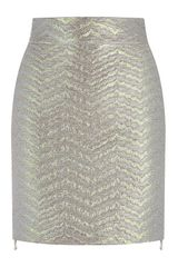 Antonio Berardi Pearlized Mini Skirt - Lyst