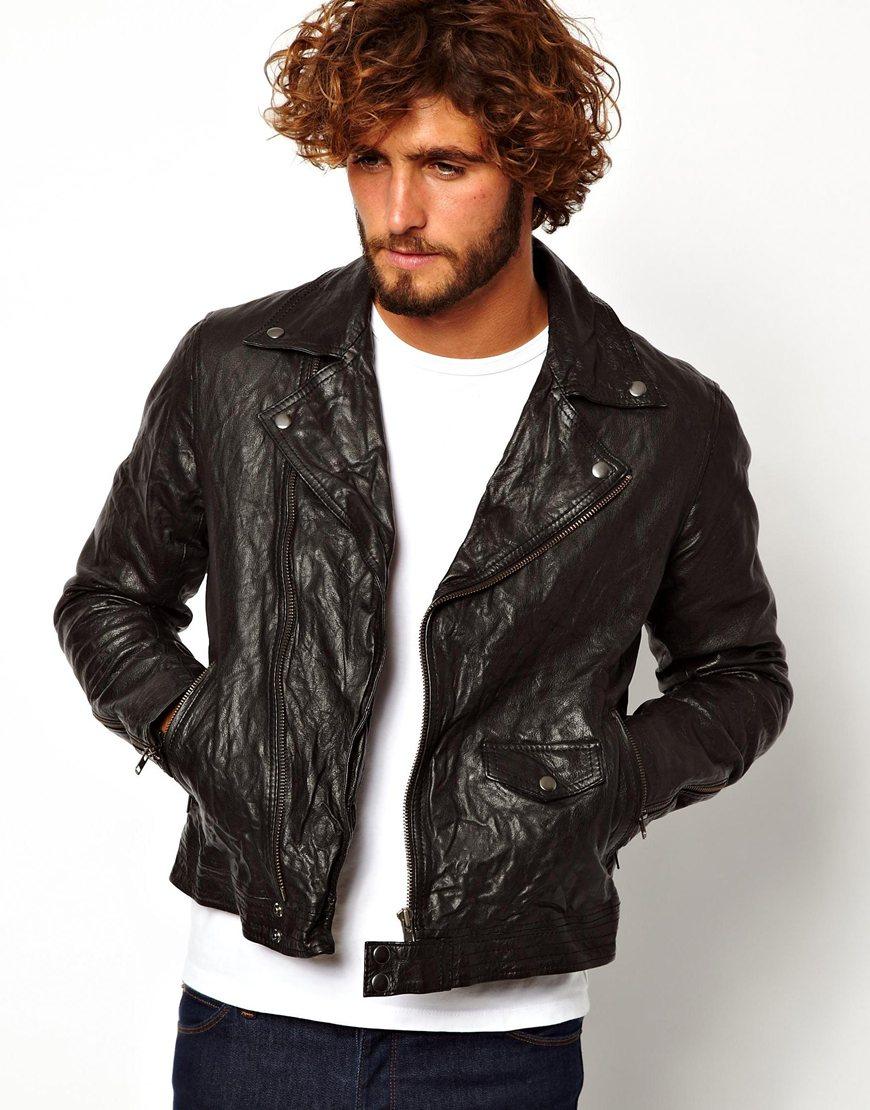 Biker Leather Jacket Men - Jacket