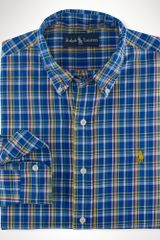 Big & Tall Classic-fit Plaid Oxford Shirt - Lyst