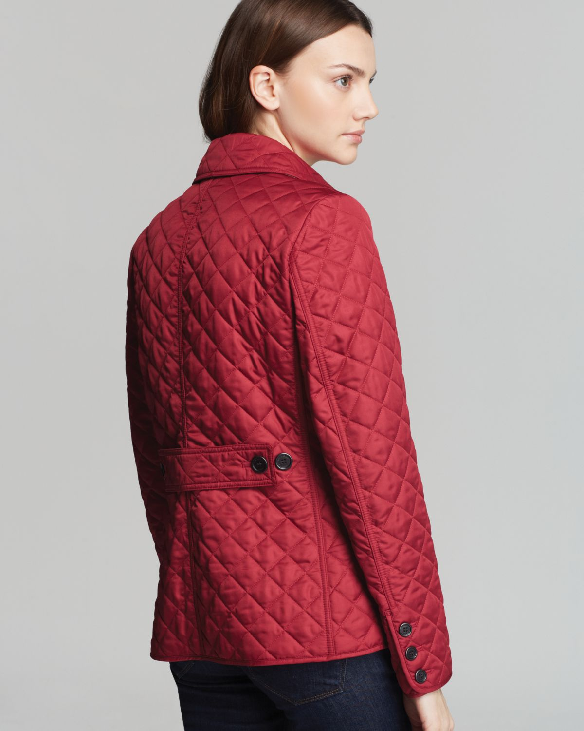Lyst - Burberry Brit Copford Quilted Jacket in Gray : red burberry quilted jacket - Adamdwight.com