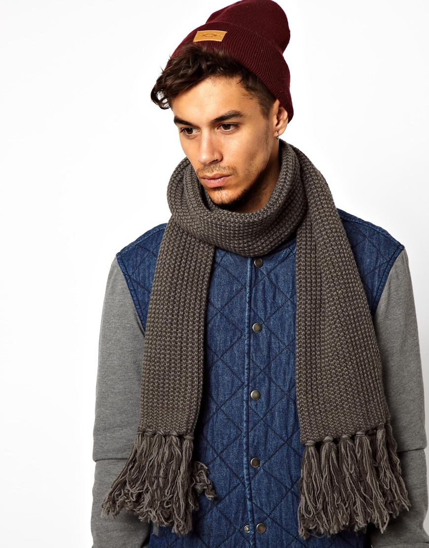 cheap monday scarf in gray for lyst