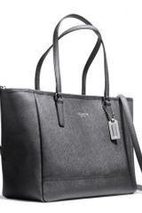 Coach Crossbody City Tote in Saffiano Leather - Lyst