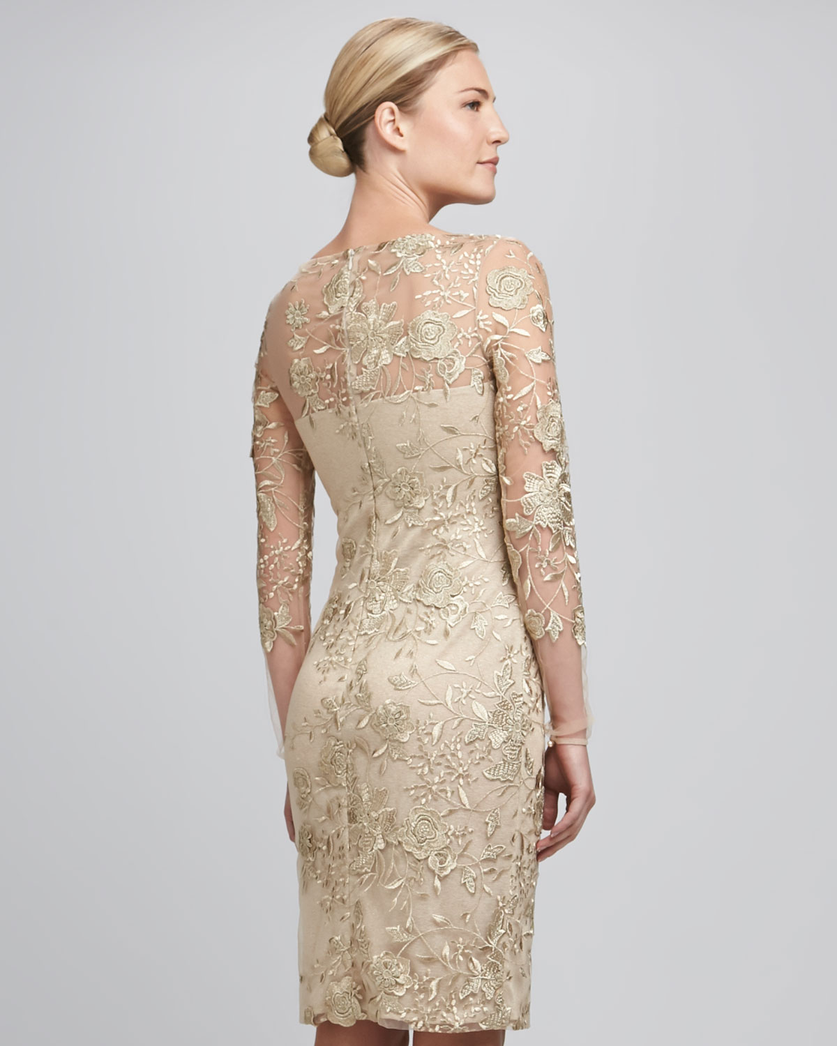 Lace cocktail dress beige – Dress and bottoms