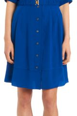 Derek Lam Belted Short Sleeve Dress - Lyst