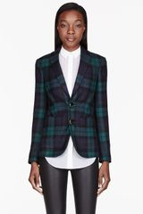DSquared2 Green and Blue Wool Plaid Miss Dean Blazer - Lyst