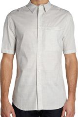 Elie Tahari Short Sleeve Check Shirt - Lyst
