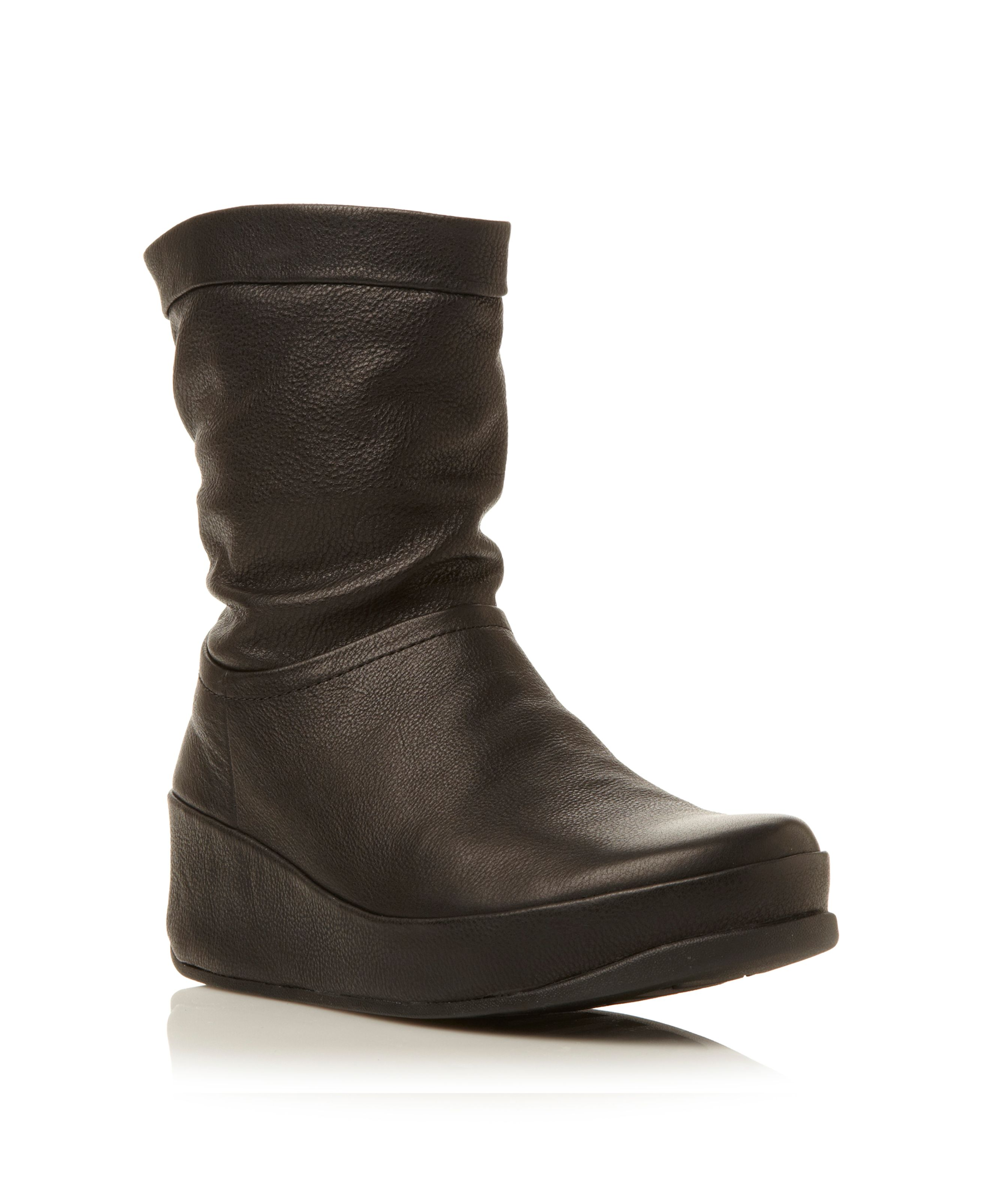 21c44d2bf Fitflop Crush Boot Leather Black