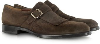 Fratelli Rossetti Dark Brown Suede Fringed Loafer - Lyst