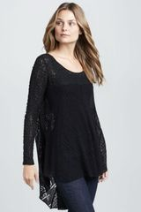 Free People Black Magic Combo Lace Tunic - Lyst