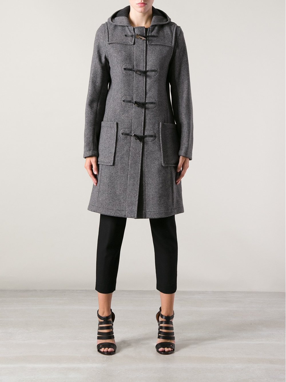 Gloverall Duffle Coat in Gray | Lyst