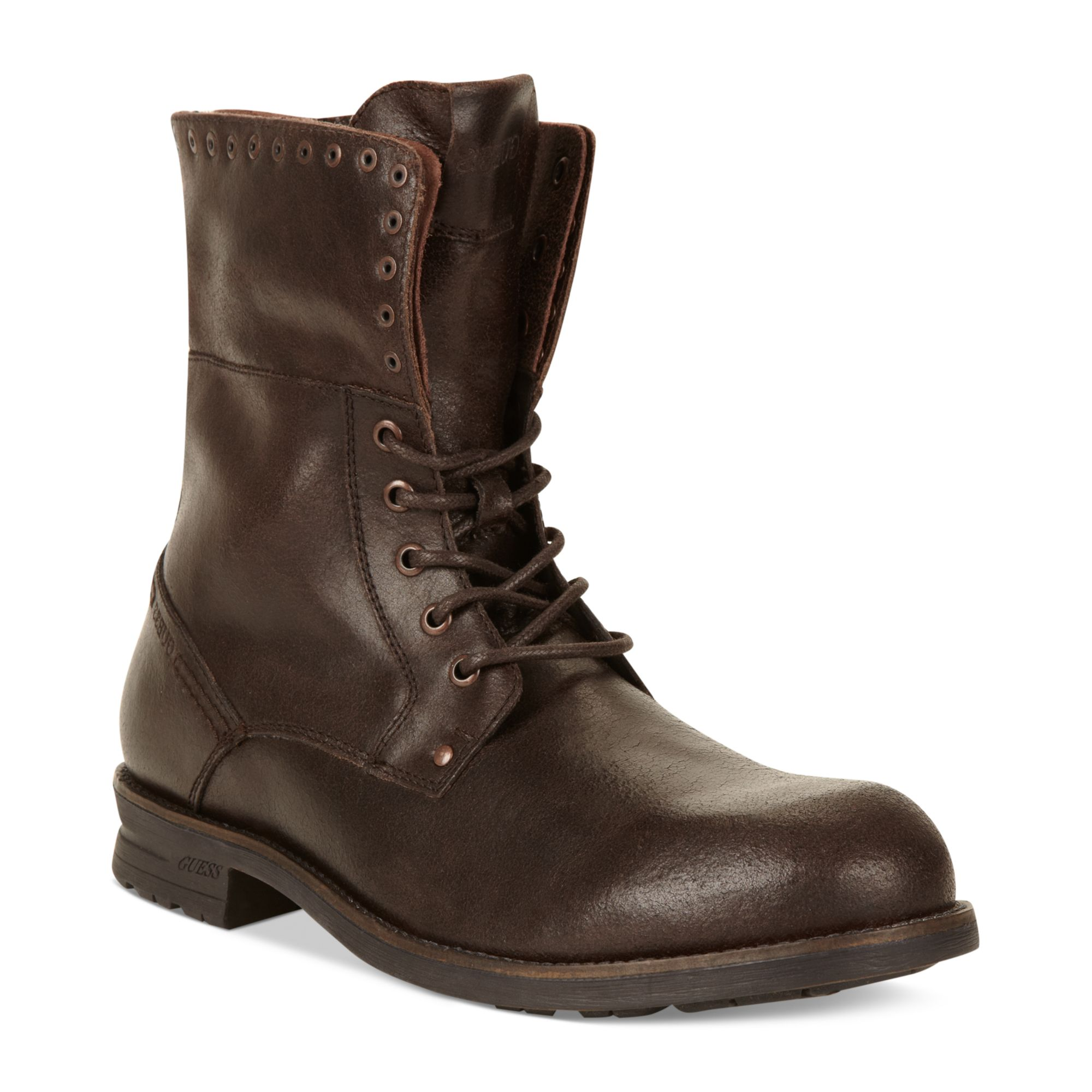 guess mens shoes differ boots in brown for brown
