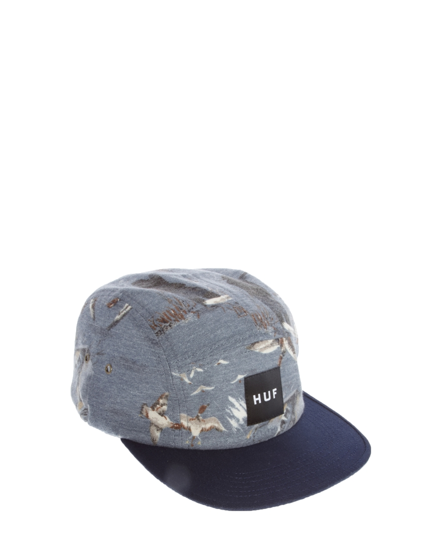 3a5facba Huf Duck Volley 5 Panel Cap in Blue for Men - Lyst
