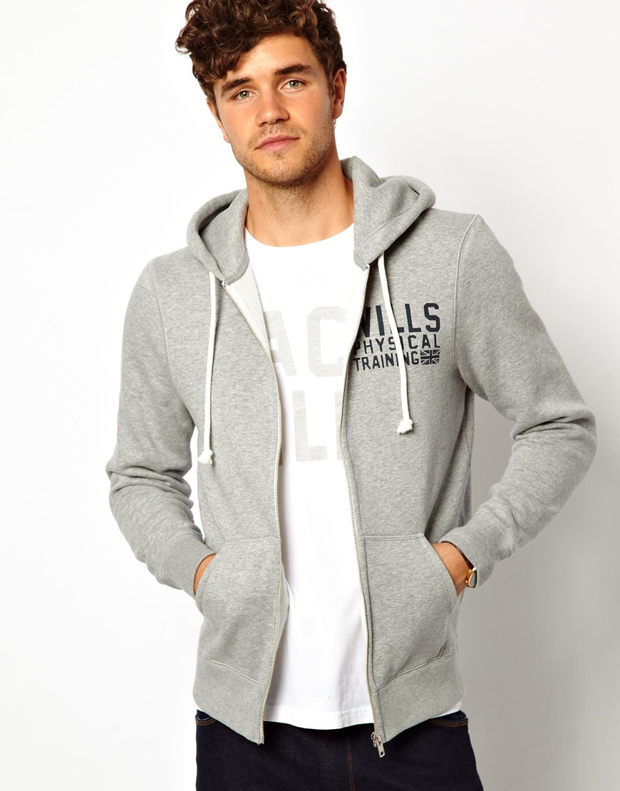 c948eb161e223 Lyst - Michael Kors Jack Wills Hoody with Full Zip and Number 8 Back ...