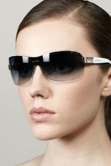 Jimmy Choo Flo Gradient Shield Sunglasses Bluewhite - Lyst
