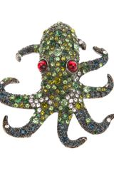 Kenneth Jay Lane Octopus Pin - Lyst