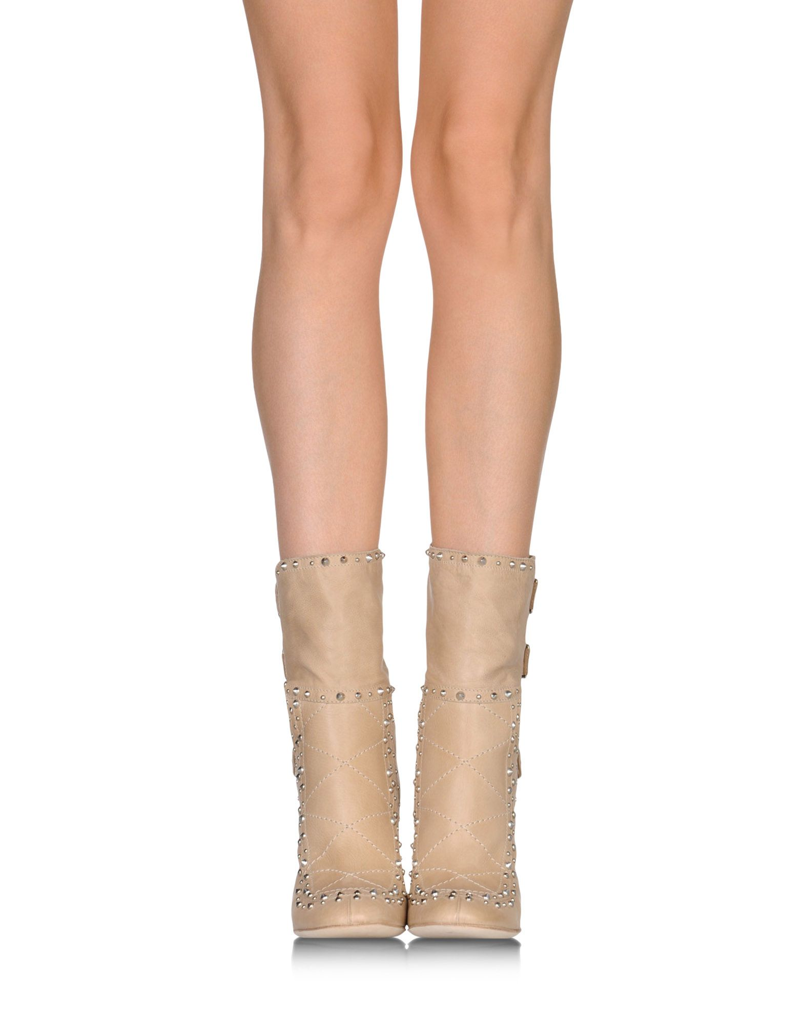 laurence dacade buckled suede ankle boots in beige lyst. Black Bedroom Furniture Sets. Home Design Ideas