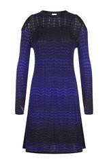 M Missoni Chevron Knit Dress - Lyst