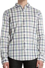 Original Penguin Plaid Rounded Collar Shirt - Lyst