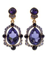 Oscar de la Renta Pear Cut Drop Earrings - Lyst