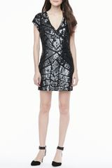 Parker Isabel Sequined Vneck Dress - Lyst