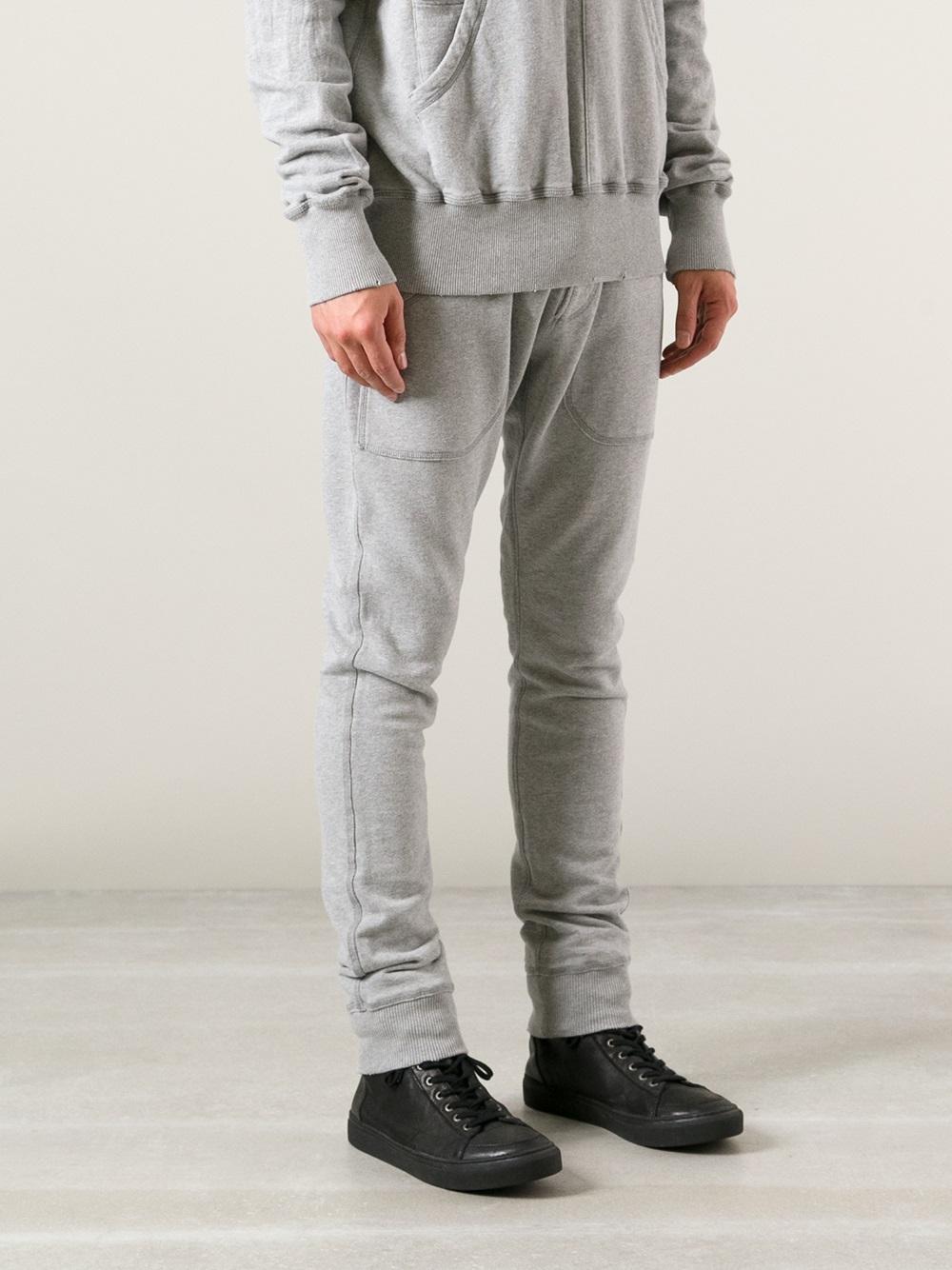 caaa6db5e8b Balmain Tracksuit Trouser in Gray for Men - Lyst