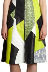 Proenza Schouler Snakeskin Patchwork Sleeveless Dress - Lyst