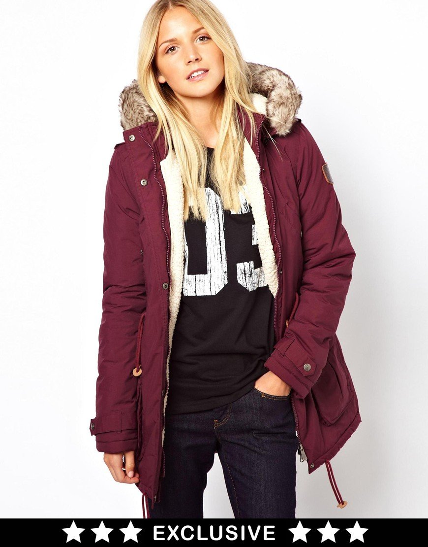 Calvin Klein Puffa Parka Exclusive To Asos In Red Lyst
