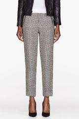 Rag & Bone Black and White Woven Woodstock Trousers - Lyst