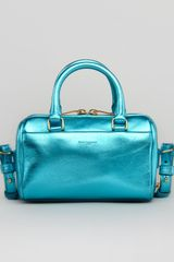 Saint Laurent Metallic Duffel Toy Bag Blue - Lyst