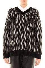 Thakoon Addition Contrastknit Wool Sweater - Lyst
