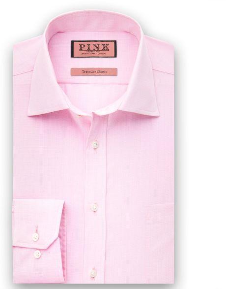 Thomas Pink Burnett Check Shirt In Pink For Men Lyst