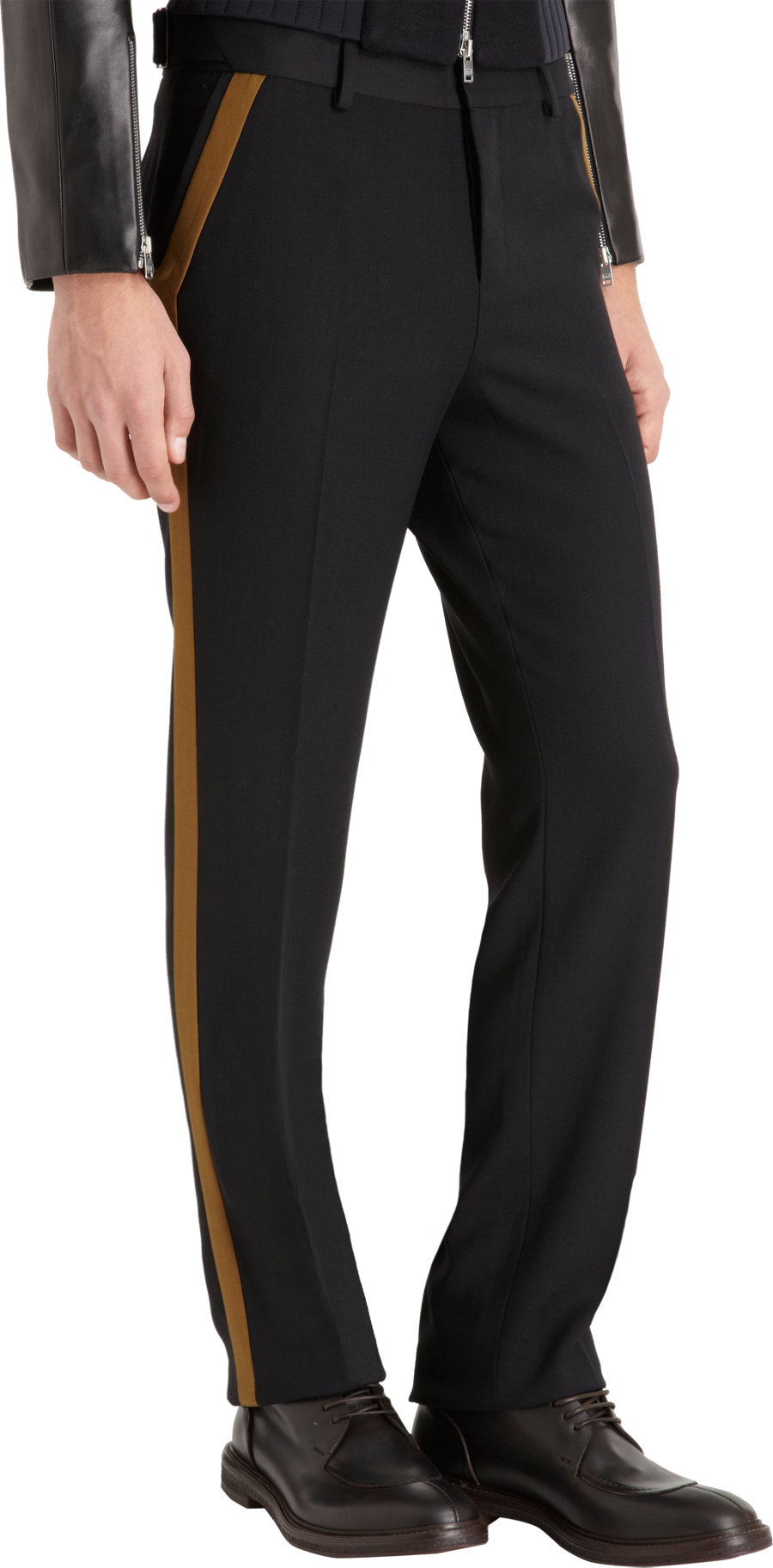 Tim Coppens Side Stripe Tuxedo Trousers In Black For Men
