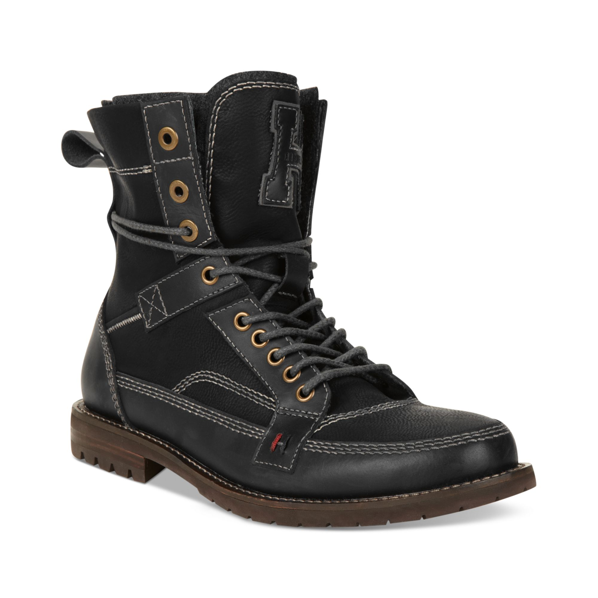 lyst tommy hilfiger brutus boots in black for men. Black Bedroom Furniture Sets. Home Design Ideas