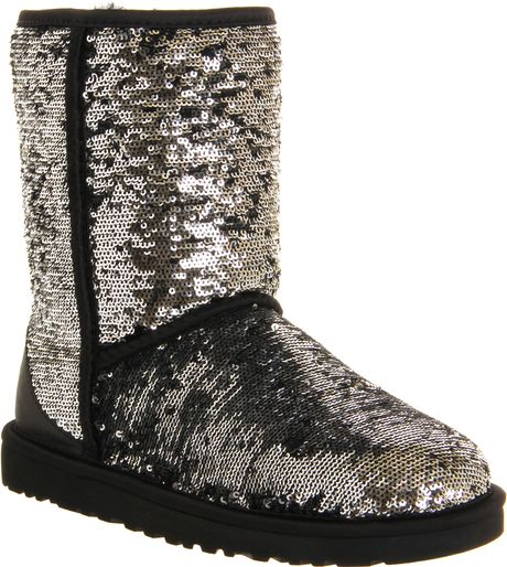 Ugg Classic Short Sparkles in Silver   Lyst