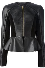 Alice By Temperley Peplum Leather Jacket - Lyst