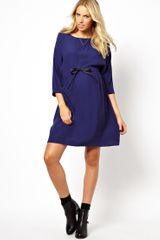 Asos Maternity Dress with Tie Waist - Lyst