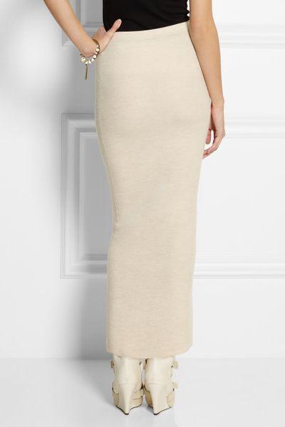 Donna Karan New York Stretch Cashmere Tube Maxi Skirt In