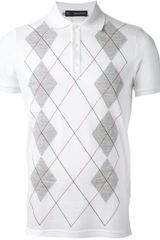 DSquared2 Printed Polo Shirt - Lyst
