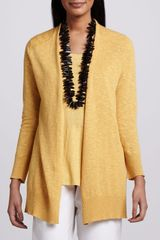 Eileen Fisher Open Slub Cardigan - Lyst