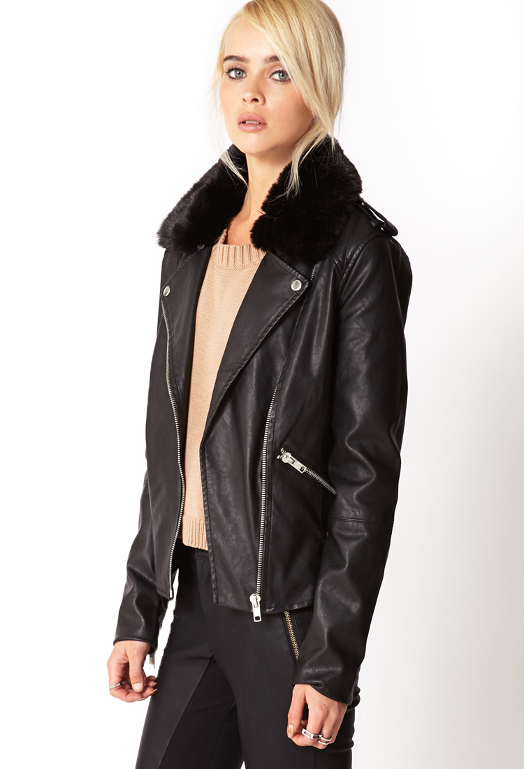 Forever 21 Ultra Chic Faux Leather Moto Jacket You Ve Been