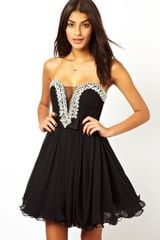 Forever Unique Embellished Prom Dress - Lyst