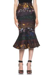 Givenchy Darker Multi Print Paneled Skirt - Lyst