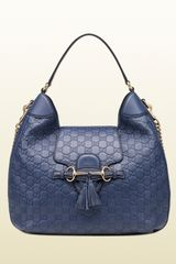 Gucci Emily Ssima Leather Hobo - Lyst