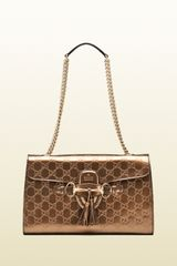 Gucci Emily Ssima Leather Shoulder Bag - Lyst