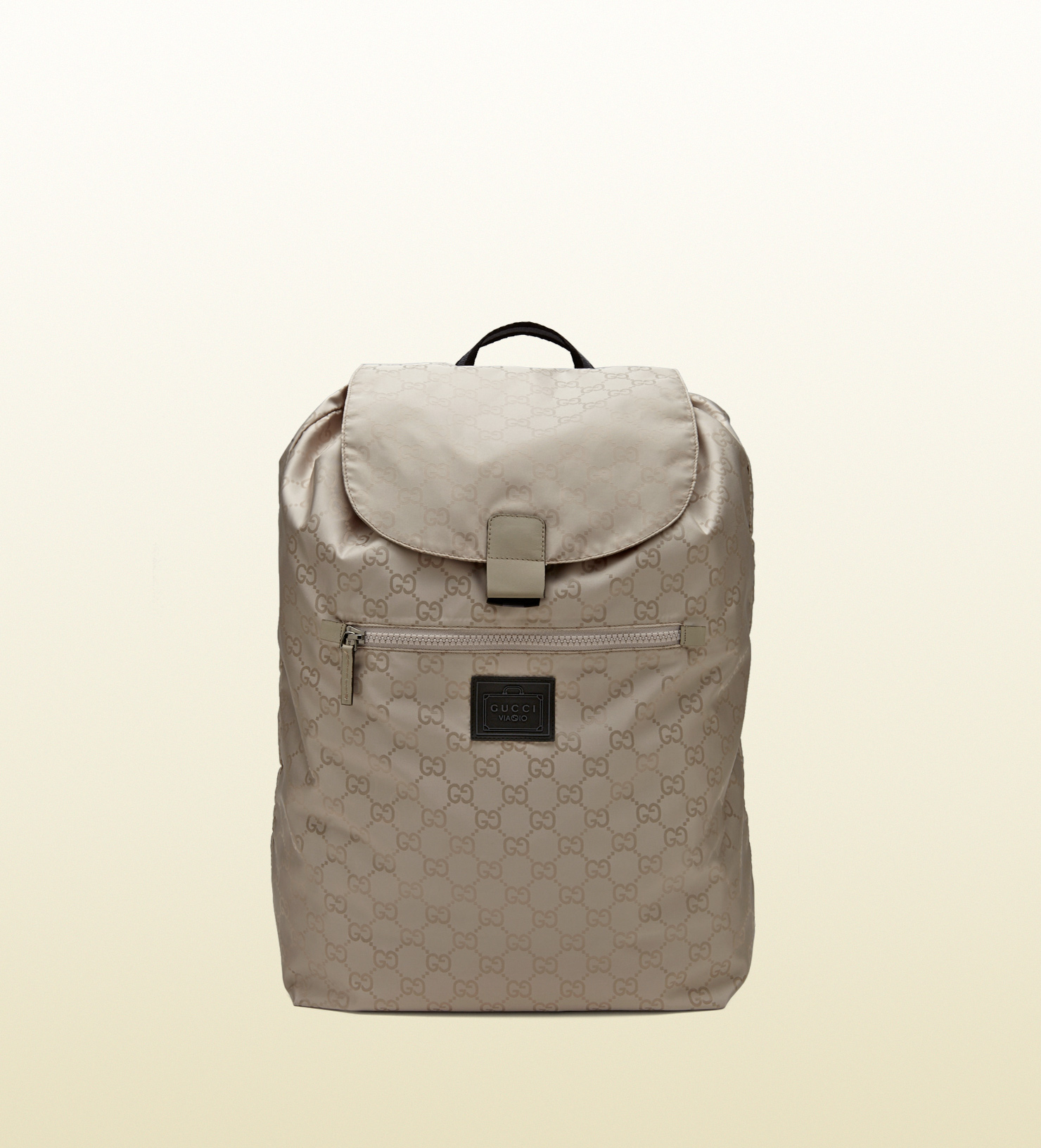 Lyst - Gucci Gg Nylon Backpack From The Viaggio Collection in Gray ... 2e9b0f77480ab