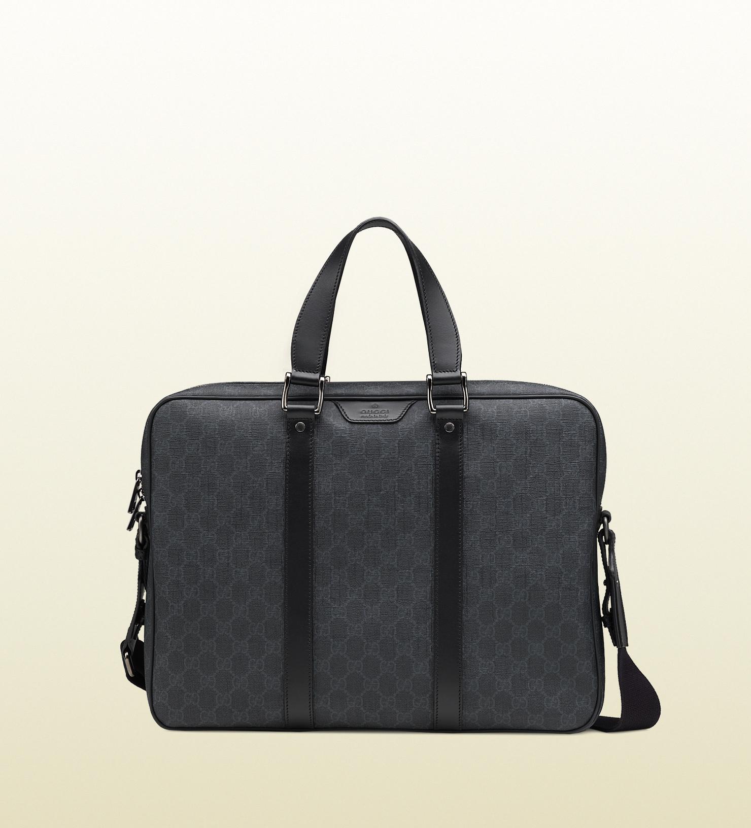 8edf3e71d0828d Gucci Gg Supreme Canvas Briefcase in Gray for Men - Lyst